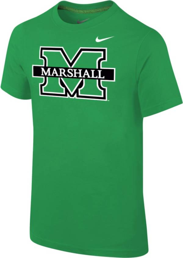 Nike Youth Marshall Thundering Herd Green Core Cotton T-Shirt product image