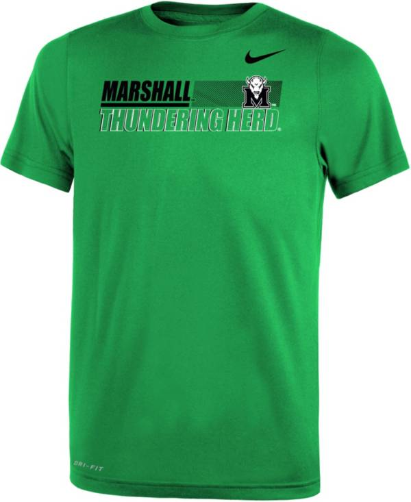 Nike Youth Marshall Thundering Herd Green Dri-FIT Legend Performance T-Shirt product image