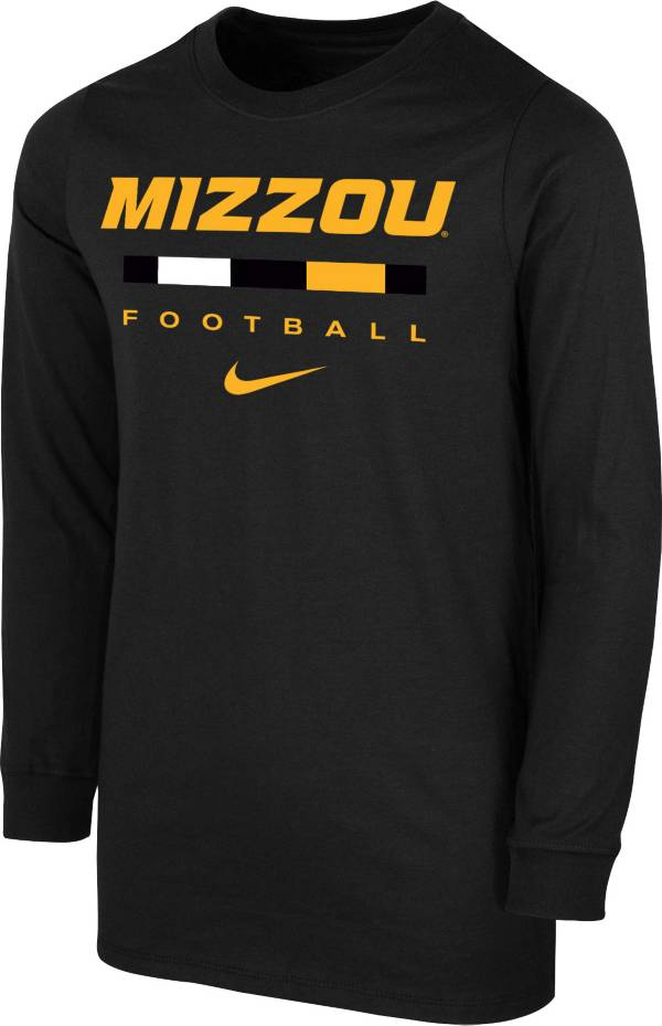 Nike Youth Missouri Tigers Dri-FIT Wordmark Long Sleeve Black T-Shirt product image