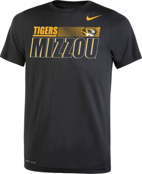 Nike Youth Missouri Tigers Dri-FIT Legend Performance Black T-Shirt product image