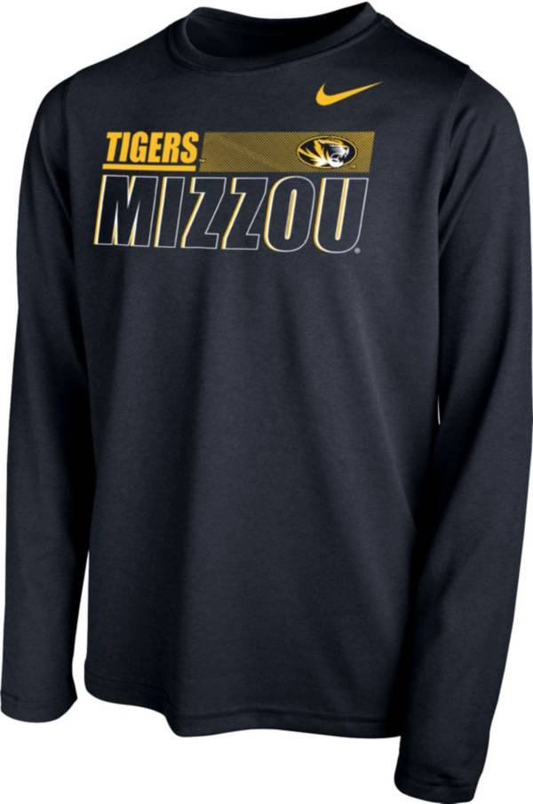 Nike Youth Missouri Tigers Legend Long Sleeve Performance Black T-Shirt product image