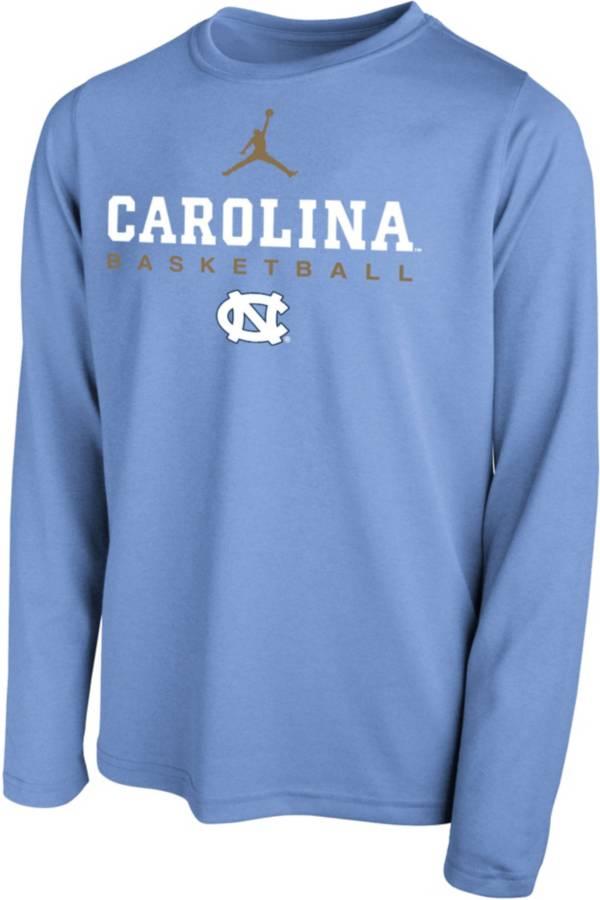 Jordan Youth North Carolina Tar Heels Carolina Blue Hook Dri-FIT Legend Long Sleeve Basketball T-Shirt product image