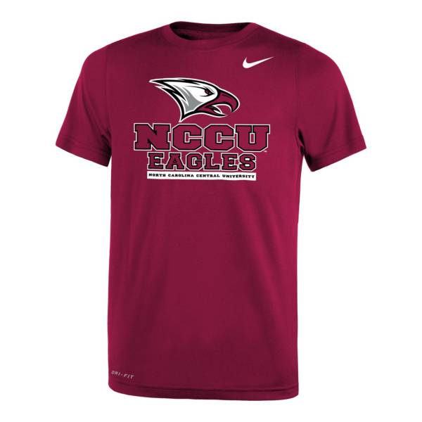 Nike Youth North Carolina Central Eagles Maroon Legend Logo T-Shirt product image
