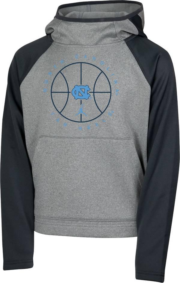 Jordan Youth North Carolina Tar Heels Grey Spotlight Pullover Basketball Hoodie product image