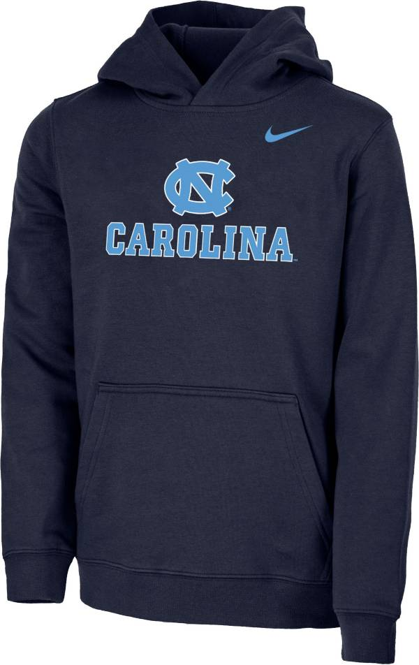Nike Youth North Carolina Tar Heels Navy Club Fleece Pullover Hoodie product image