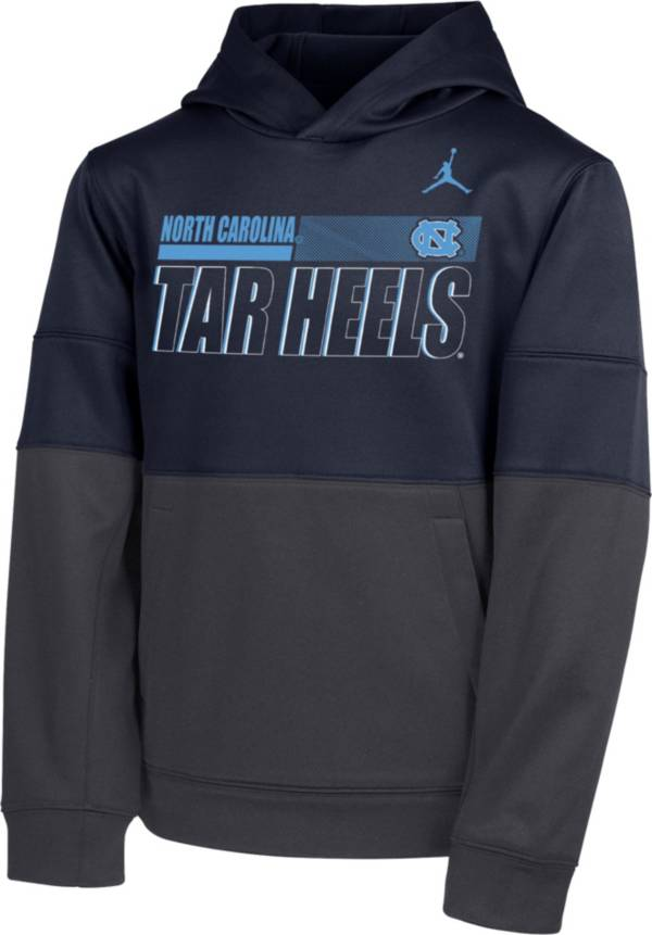 Nike Youth North Carolina Tar Heels Navy Therma Color Block Pullover Hoodie product image