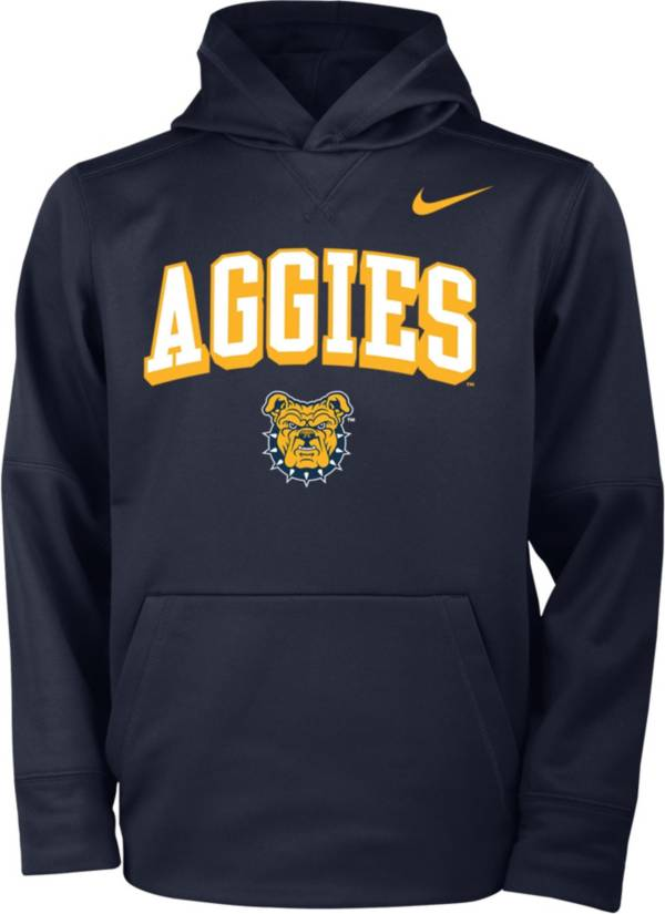 Nike Youth North Carolina A&T Aggies Aggie Blue Therma Pullover Hoodie product image