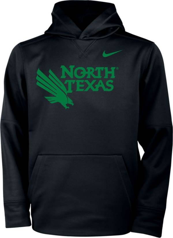 Nike Youth North Texas Mean Green Therma Pullover Black Hoodie product image
