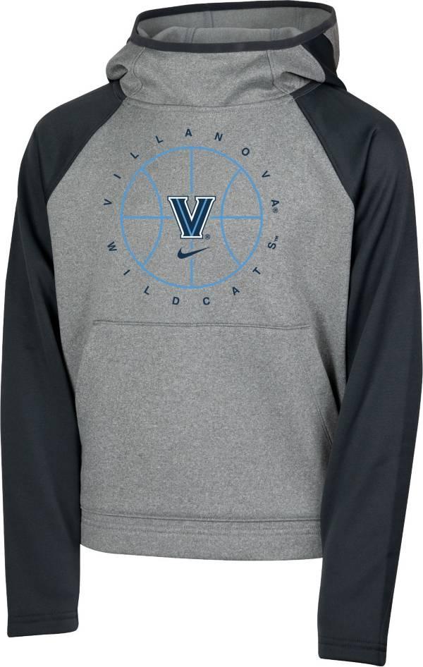 Nike Youth Villanova Wildcats Grey Spotlight Pullover Basketball Hoodie product image