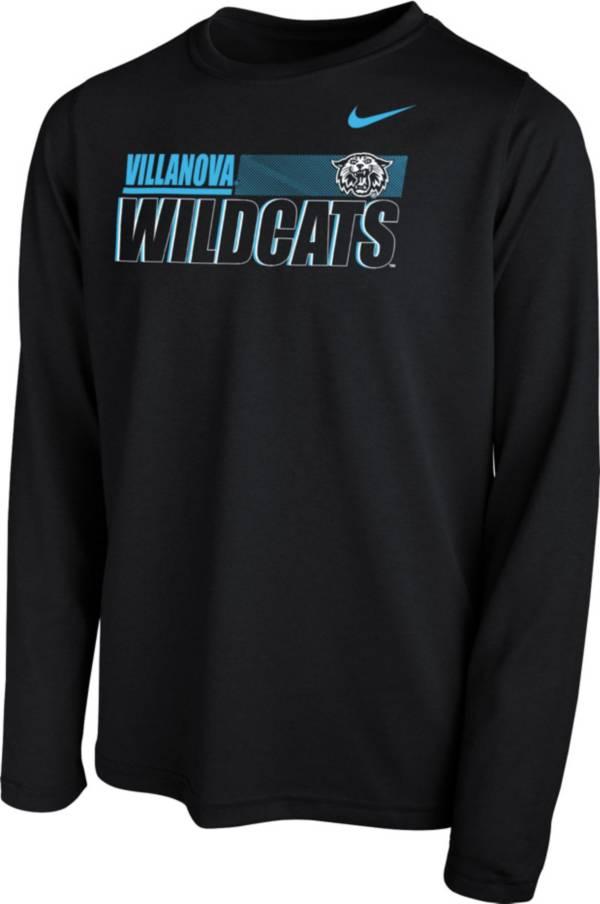 Nike Youth Villanova Wildcats Legend Long Sleeve Performance Black T-Shirt product image