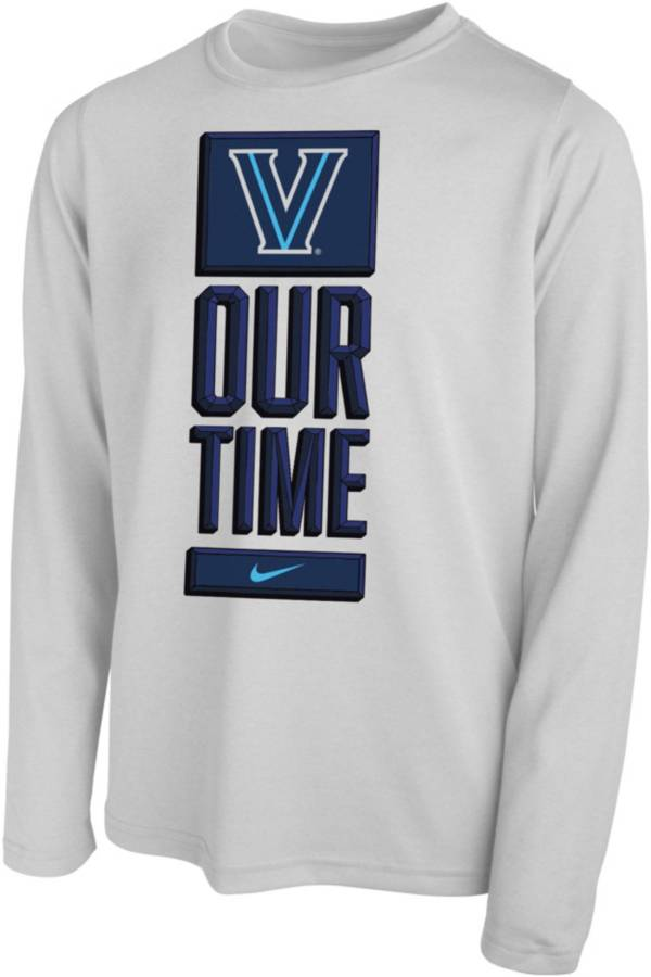 Nike Youth Villanova Wildcats 'Our Time' Bench Long Sleeve White T-Shirt product image