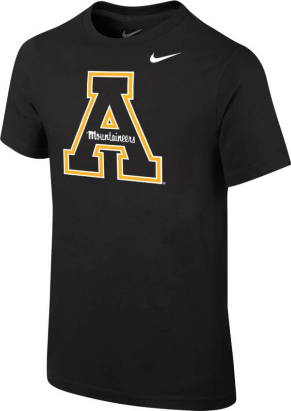 Nike Youth Appalachian State Mountaineers Core Cotton Black T-Shirt product image