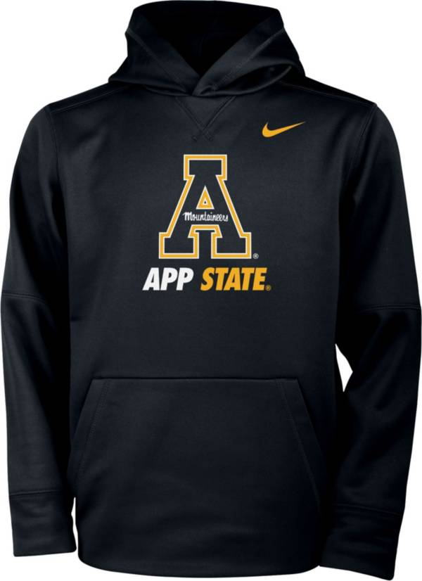 Nike Youth Appalachian State Mountaineers Therma Pullover Black Hoodie product image