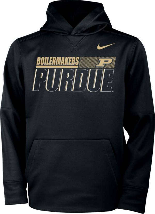 Nike Youth Purdue Boilermakers Therma Pullover Black Hoodie product image