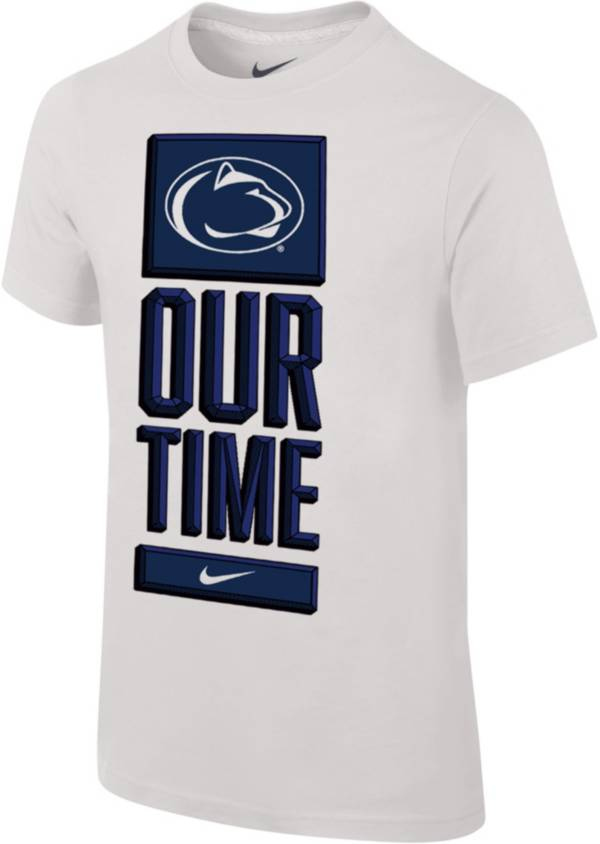 Nike Youth Penn State Nittany Lions 'Our Time' Bench White T-Shirt product image