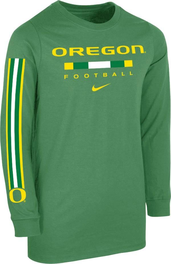 Nike Youth Oregon Ducks Green Core Long Sleeve Cotton Football T-Shirt product image