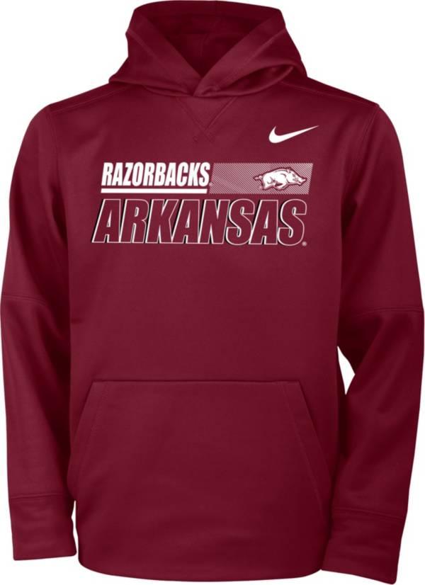 Nike Youth Arkansas Razorbacks Cardinal Therma Pullover Hoodie product image