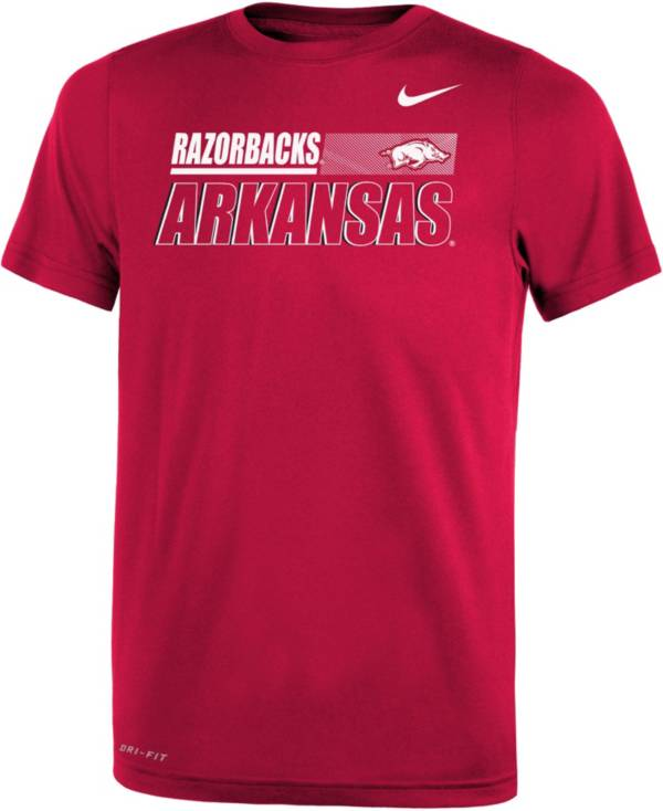 Nike Youth Arkansas Razorbacks Cardinal Dri-FIT Legend Performance T-Shirt product image