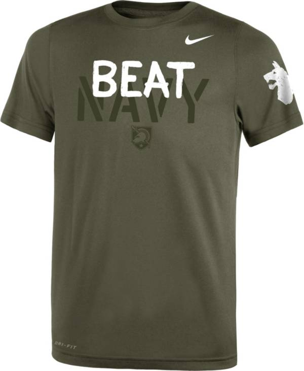Nike Youth Army Black Knights Green 'Beat Navy' Legend Performance T-Shirt product image