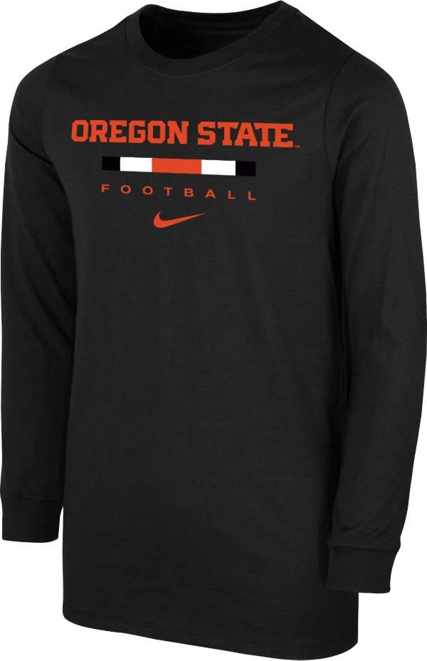Nike Youth Oregon State Beavers Dri-FIT Wordmark Long Sleeve Black T-Shirt product image