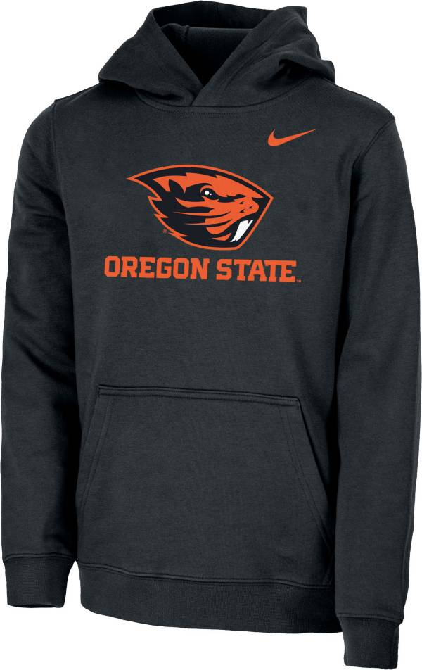 Nike Youth Oregon State Beavers Club Fleece Pullover Black Hoodie product image