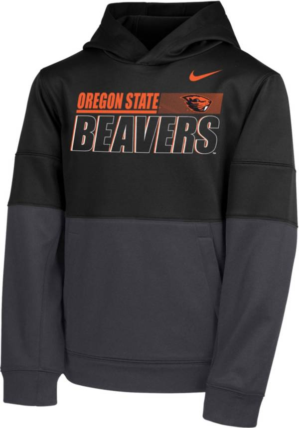 Nike Youth Oregon State Beavers Therma Color Block Pullover Black Hoodie product image