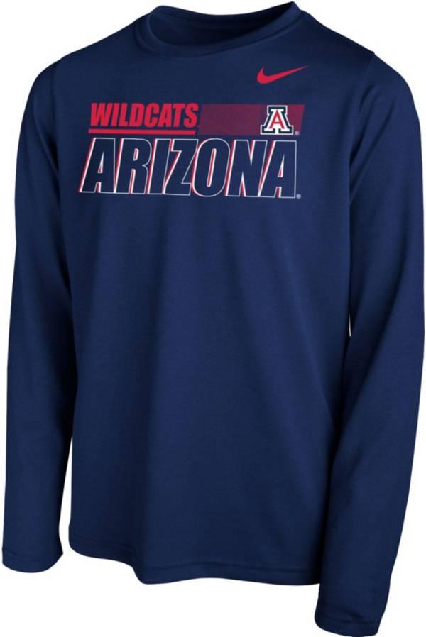 Nike Youth Arizona Wildcats Navy Legend Long Sleeve Performance T-Shirt product image