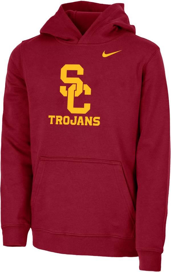 Nike Youth USC Trojans Cardinal Club Fleece Pullover Hoodie product image