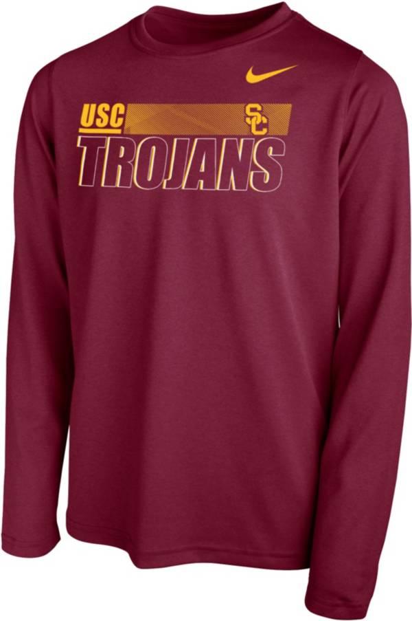 Nike Youth USC Trojans Cardinal Legend Long Sleeve Performance T-Shirt product image