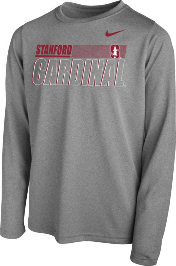 Nike Youth Stanford Cardinal Grey Legend Long Sleeve Performance T-Shirt product image