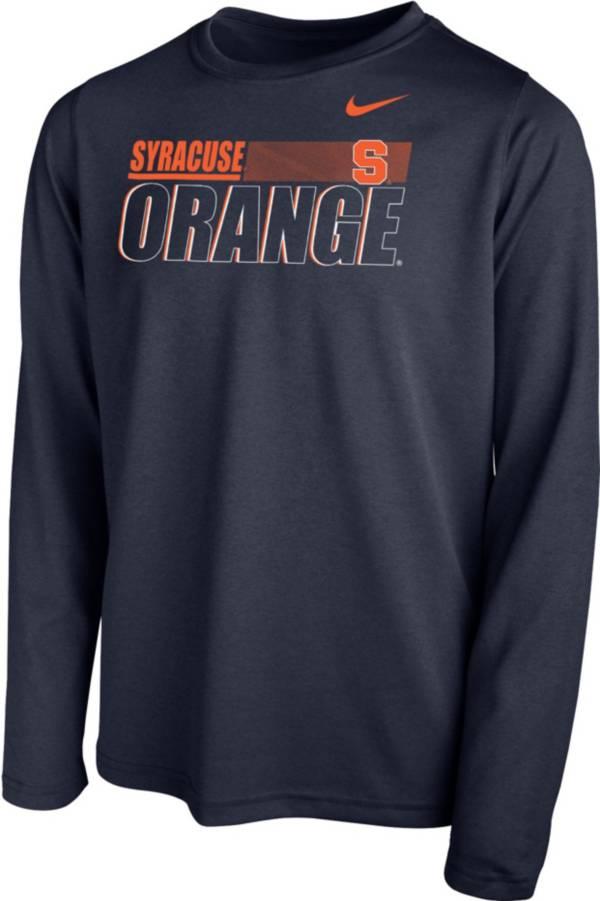 Nike Youth Syracuse Orange Blue Legend Long Sleeve Performance T-Shirt product image