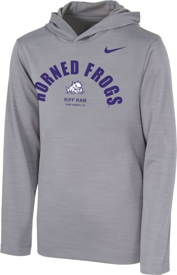 Nike Youth TCU Horned Frogs Grey Pullover Hoodie product image