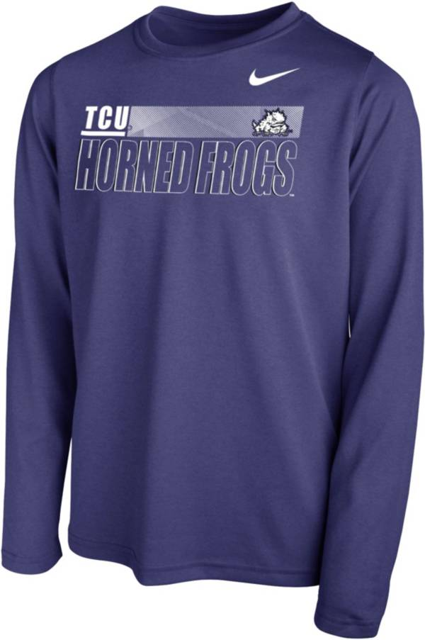 Nike Youth TCU Horned Frogs Purple Legend Long Sleeve Performance T-Shirt product image
