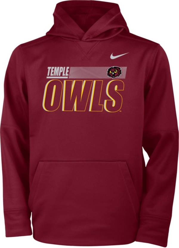 Nike Youth Temple Owls Cherry Therma-FIT Pullover Hoodie product image