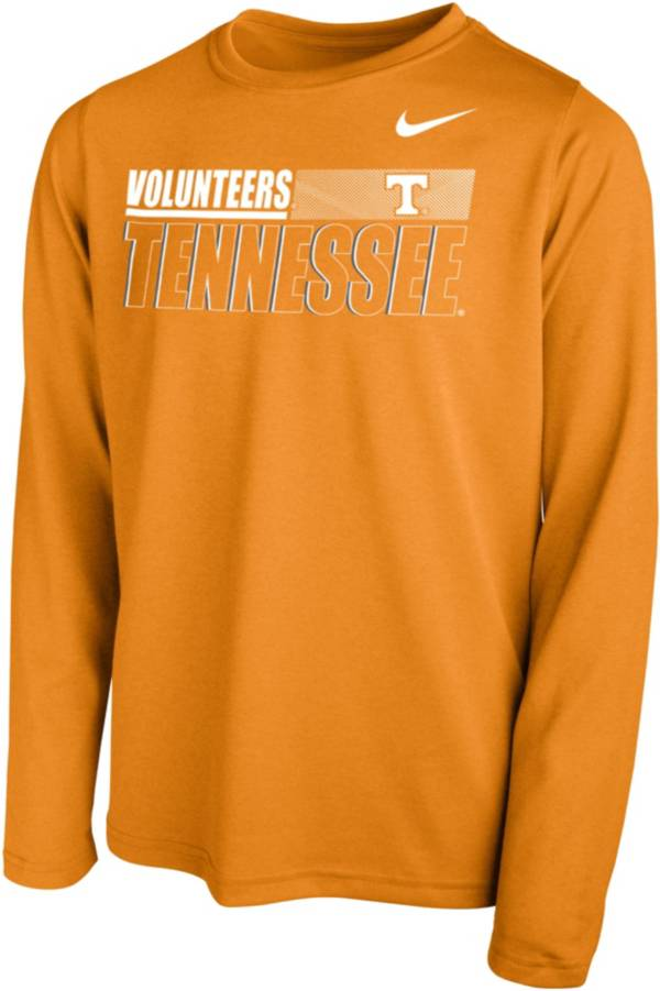 Nike Youth Tennessee Volunteers White Legend Long Sleeve Performance T-Shirt product image
