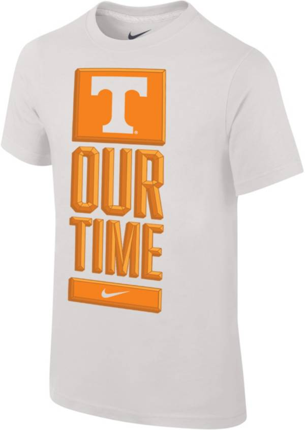 Nike Youth Tennessee Volunteers 'Our Time' Bench White T-Shirt product image