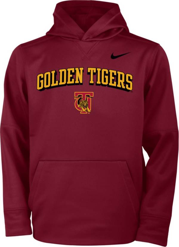 Nike Youth Tuskegee Golden Tigers Crimson Therma Pullover Hoodie product image