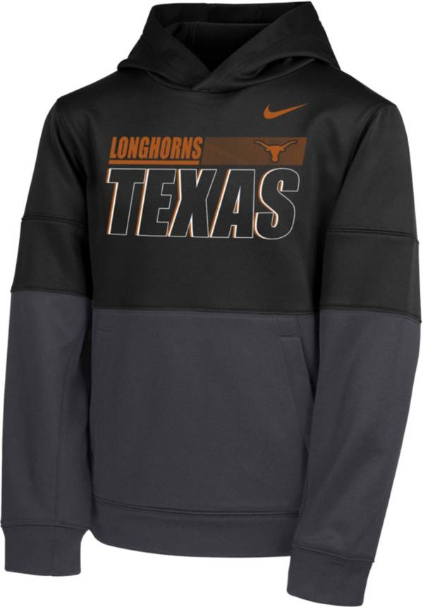 Nike Youth Texas Longhorns Therma Color Block Pullover Black Hoodie product image