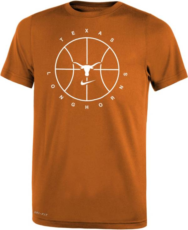 Nike Youth Texas Longhorns White Legend Practice Performance Basketball T-Shirt product image
