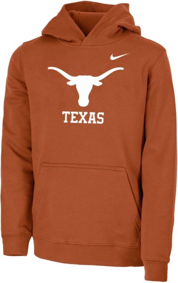 Nike Youth Texas Longhorns Burnt Orange Club Fleece Pullover Hoodie product image
