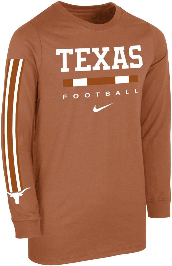 Nike Youth Texas Longhorns Burnt Orange Core Long Sleeve Cotton Football T-Shirt product image
