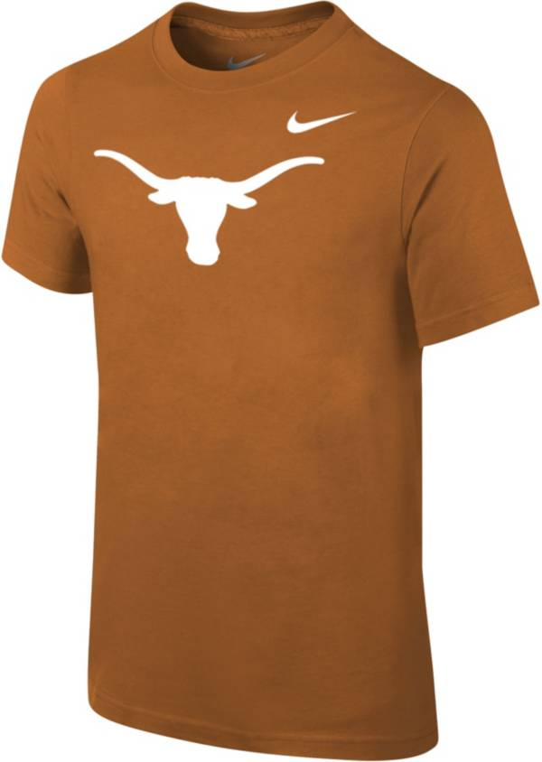 Nike Youth Texas Longhorns Burnt Orange Core Cotton T-Shirt product image