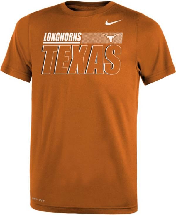 Nike Youth Texas Longhorns Burnt Orange Dri-FIT Legend Performance T-Shirt product image