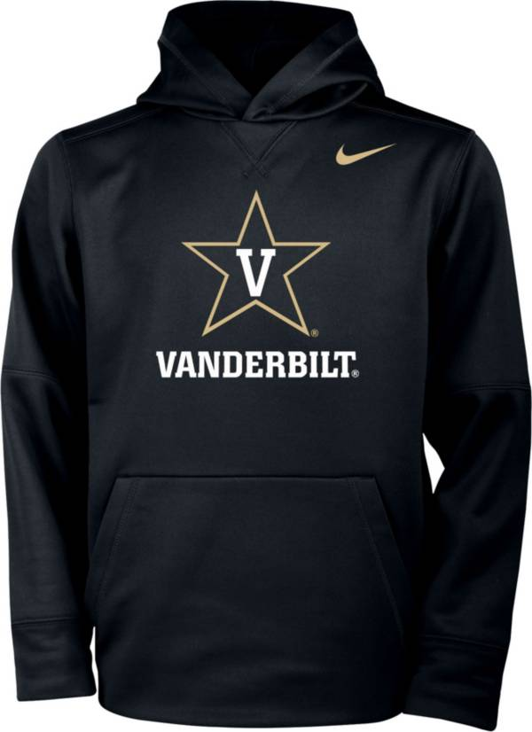Nike Youth Vanderbilt Commodores Therma Pullover Black Hoodie product image