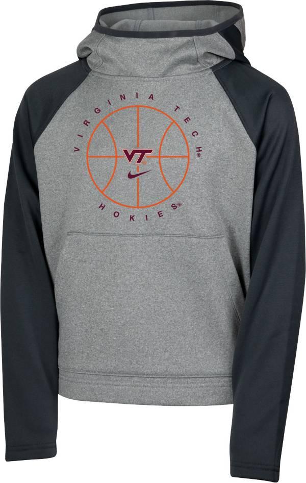 Nike Youth Virginia Tech Hokies Grey Spotlight Pullover Basketball Hoodie product image