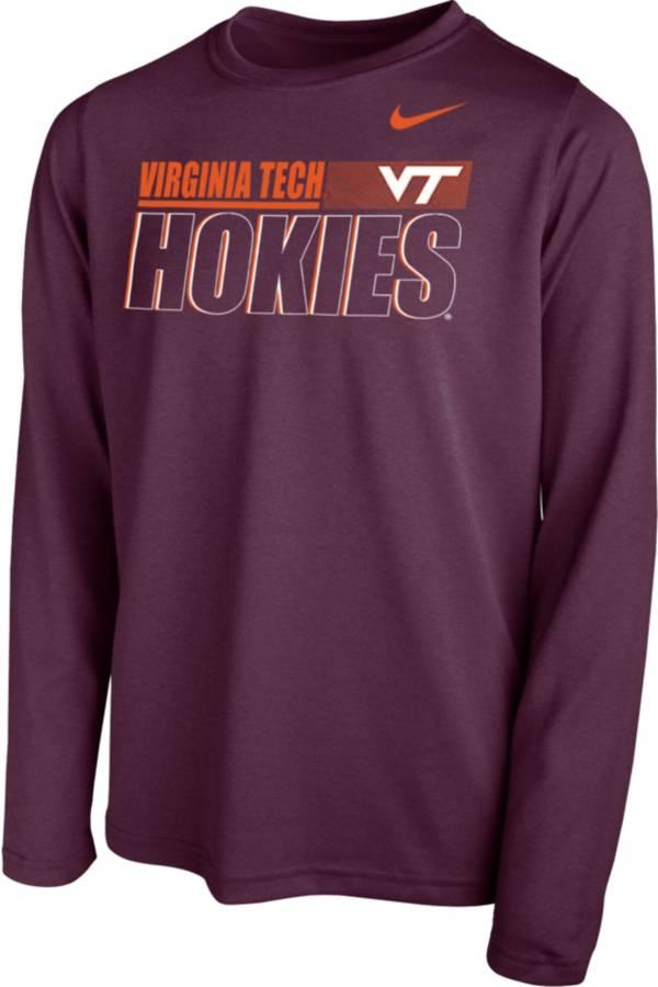 Nike Youth Virginia Tech Hokies Maroon Legend Long Sleeve Performance T-Shirt product image