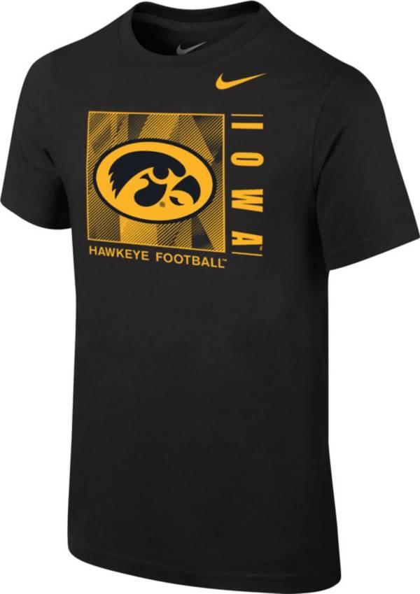 Nike Youth Iowa Hawkeyes Core Cotton Black T-Shirt product image
