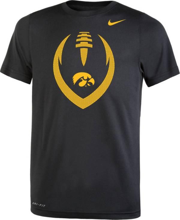 Nike Youth Iowa Hawkeyes Legend Performance Football Black T-Shirt product image