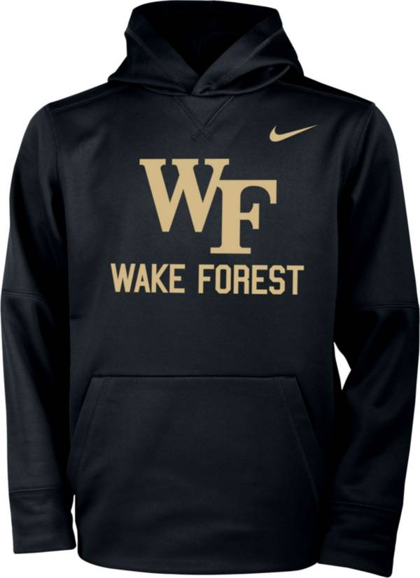 Nike Youth Wake Forest Demon Deacons Therma Pullover Black Hoodie product image