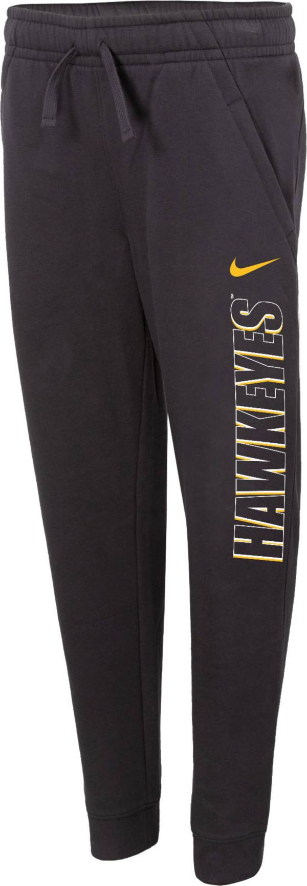 Nike Youth Iowa Hawkeyes Grey Club Fleece Joggers product image
